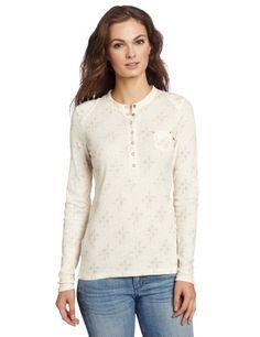 Dickies Women's Rib Henley Print Shirt, Antique White Print, X-Large Dickies,http://www.amazon.com/dp/B00857TT98/ref=cm_sw_r_pi_dp_oC7jsb0MNR96P7JX