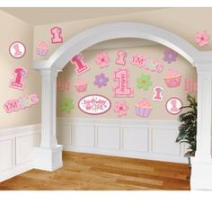 1st Birthday Girl Mega Value Pack Cutouts