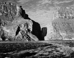 Ansel Adams' 1947 photo of Santa Elena Canyon in Big Bend National Park. Not much has changed since this was taken. Traces of Texas