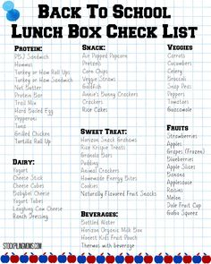 Stressing out about packing school lunches? We have a Back To School Lunch Box Check List printable for you! #MyPBJMoment #ad