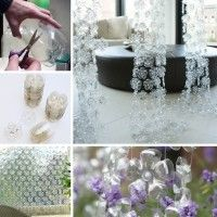 Stunning Flower Curtains Made from Plastic Bottles