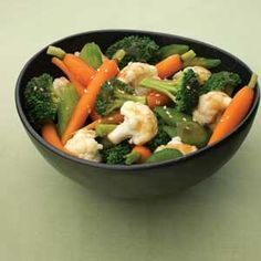 This enjoyable stir-fry allows the flavor and texture of fresh vegetables to shine, especially when glazed with an appealing sauce featuring hints of soy sauce, ginger and garlic.