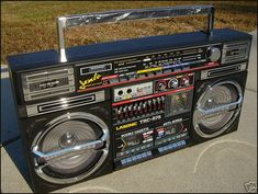 Old school Boombox by allemander, via Flickr