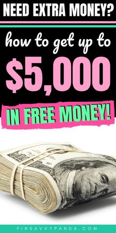 Do you NEED extra cash? Here are tips and hacks on how to get FREE money today! I'm a huge fan of saving money and making money, but there's no way I could say no to free money and free stuff! Find out where the hidden stash of cash lies! Free Money Now, Make Money Today, Ways To Earn Money, Earn Money From Home, Earn Money Online, Money Tips, Way To Make Money, Money Saving Tips, Money Fast