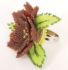 Ring with Seed Beads - Fire Mountain Gems and Beads