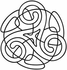 Craft a symbol of threefold unity with this ancient Celtic design. Downloads as a PDF. Use pattern transfer paper to trace design for hand-stitching.