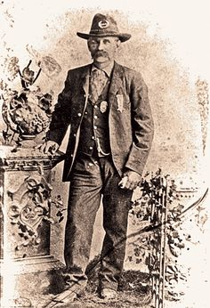April 5 was an eventful date in the gunfighting career of John Selman, the man most known for shooting down deadly killer John Wesley Hardin in 1895. On that day in 1894, Selman killed a former Texas Ranger named Bass Outlaw. On April 5, 1896, Selman got into a dispute with Deputy U.S. Marshal George Scarborough in El Paso, Texas, went into an alley to shoot it out...and lost. The lawman was 56 when he died.  – Courtesy Leon Metz Collection –