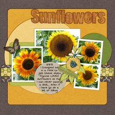A Sunflower For Frannie  Created with the Bye Bye Summer kit designed by Z Pink Boudoir Designs http://store.gingerscraps.net/Bye-Bye-Summer.html and Naturally Wonderful templates designed by Connie Prince http://store.gingerscraps.net/Naturally-Wonderful-12x12-Temps-CU-Ok.html