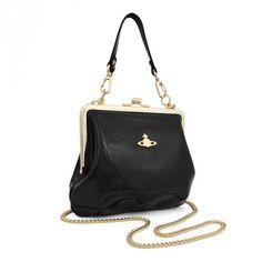 Vivian Westwood black patent leather bag!