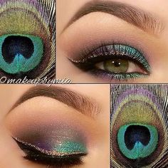 I luv the look.  Might even do it for our wedding renewal.  I wonder if it will work as well with dk brown eyes? #wedding