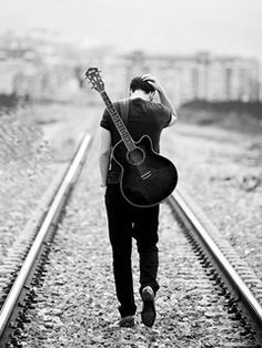 male abs guitar black and white - Google Search