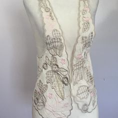 Pins & Needles Embroidered Vest- Med Beautifully embroidered I pink & grey! 100% rayon- Perfect condition Urban Outfitters Tops