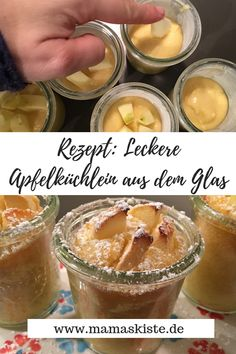 Leckere Apfelküchlein im Glas - mamaskiste.de Simply delicious apple cakes from the glass, which are Mini Desserts, Summer Desserts, Summer Recipes, Easy Smoothie Recipes, Snack Recipes, Dessert Recipes, Pumpkin Spice Cupcakes, Pumpkin Dessert, Coconut Smoothie