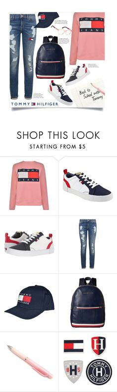 """Back to School with Tommy"" by leslee-dawn ❤ liked on Polyvore featuring Tommy Hilfiger"