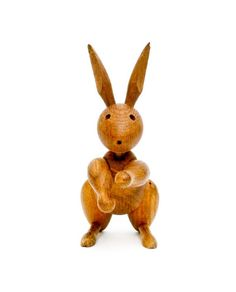 A highly collectible 1957 Kay Bojesen Rabbit. - Pin to Pin Wooden Rabbit, Easter Parade, Wooden Ornaments, Toys Shop, Wood Toys, Danish Design, Vintage Wood, Handmade Crafts, Decoration