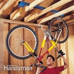How To Hang A Bike From The Ceiling Bikes Outside