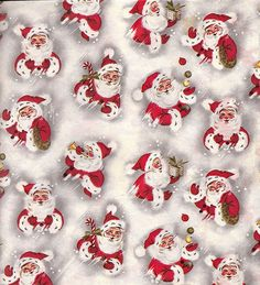 Vintage Christmas Wrapping Paper ~ Santa Claus