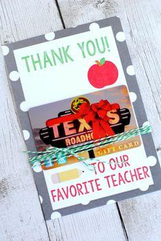 Teacher Appreciation Gift Ideas - gift card holder