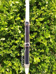 Λαμπάδα με ύφασμα και κορδόνι.. Χρυσοβαλάντω Belt, Personalized Items, Accessories, Belts