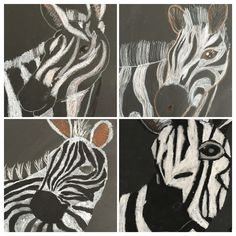 Use white paper, Black marker and make lines to make zebra stripes. Add together to make full zebra Art Education Lessons, Art Lessons, Drawing Projects, Art Projects, Indian Animals, 5th Grade Art, Art Classroom, Art Club, Summer Art