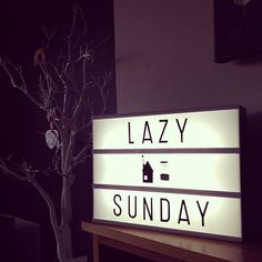 * Lazy Sunday * #lightbox #twigtree #tea #littlelovelylightbox @thismodernlife