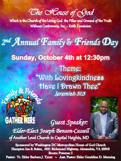 sample church family and friends day program