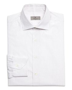 Canali Grid Check Dobby Classic Fit Dress Shirt - Bloomingdale's Exclusive