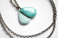 Halskette Regentropfen // necklace with rain drops via DaWanda.com
