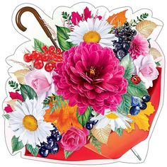 Aesthetic Stickers, Colorful Flowers, Decoupage, Floral Wreath, The Creator, Clip Art, Wreaths, Cartoon, 8 Martie
