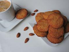 Kokosovo-mandľové fit sušienky - Jednoduché, no veľmi chutné sušienky, ktoré sú zdravšou alternatívou koláčika ku káve či len tak, na maškrtenie. Dog Food Recipes, French Toast, Muffin, Cooking, Breakfast, Fitness, Diabetes, Basket, Cucina