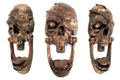 Pirate skull door knocker