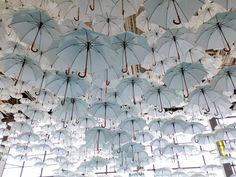 White Umbrellas Installation in Finland – Fubiz Media