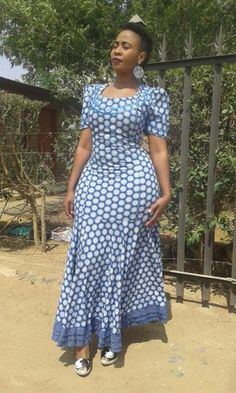 Here are some Beautiful South African shweshwe dress designs 2019 Collection you. - Here are some Beautiful South African shweshwe dress designs 2019 Collection you can styles your An Source by kabeshpurity - Latest African Fashion Dresses, African Dresses For Women, African Print Dresses, African Print Fashion, African Attire, African Women, Seshoeshoe Designs, Dress Designs, Sepedi Traditional Dresses
