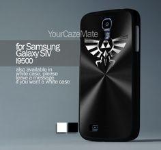 Triforce Of Zelda Black Brushed Metal, Samsung s4 Hard Plastic Black | YourCazeMate - Accessories on ArtFire