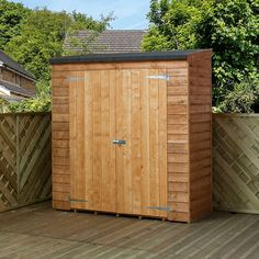 This slim and compact shed is great for packing away bikes, mowers and tools without taking up too much garden space. The Winchester x x Pent Overlap Storage Shed is an excellent value option offering shelter, storage and an attractive timber clad finish. Garden Storage Shed, Storage Shed Plans, Storage Area, Garden Sheds, Kitchen Storage, Winchester, Buy Shed, Shed Sizes, Licht Box