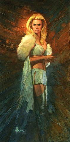 Digital Illustrations by Ivan Tao (Emma Frost)