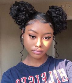 African American Natural Hairstyles for Medium Length Hair - Hair Cream Hair Makeup Hair Mask Hair Oil Hair Spray Baddie Hairstyles, Cute Hairstyles, Braided Hairstyles, Protective Hairstyles, Black Girl Curly Hairstyles, Two Buns Hairstyle, Hairstyles For African Hair, Hairstyle Ideas, Edges Hair