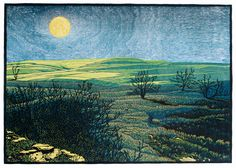 Nick Wroblewski, a former Twin Cities artist who is now based in Viroqua, WI, specializes in hand cut wood block prints