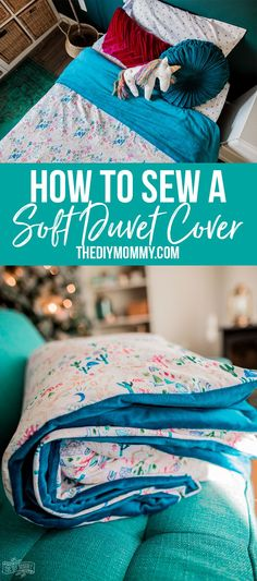 How to Sew a DIY Duvet Cover Great video tutorial. How to Sew a DIY Duvet Cover Great video tutorial! How to sew the so Easy Sewing Projects, Sewing Projects For Beginners, Sewing Hacks, Sewing Tutorials, Sewing Tips, Sewing Ideas, Beginners Quilt, Diy Projects, Project Ideas