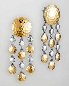 Palu Gold/Silver Chandelier Earrings by John Hardy at Neiman Marcus.