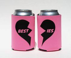 BFF's bond over beer! Besties Koozie, $8 by BeBopProps