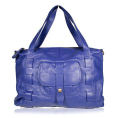 Dellamoda Handbag Large Piper Satchel Designer bag Ice Blue (DM34)