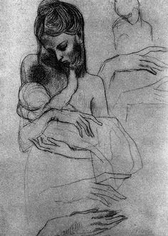 Mother and child (study) 1904/  Pablo Picasso