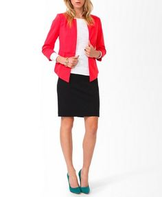 Essential Woven Pencil Skirt   FOREVER21 - 2027705123