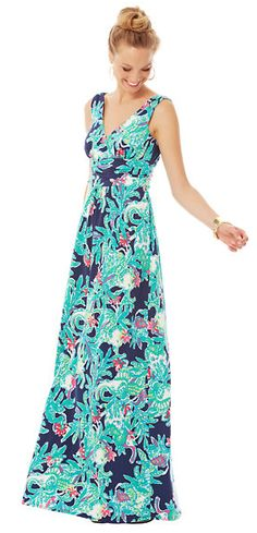 Lilly Pulitzer Sloane V-Neck Maxi Dress in Trunk Show