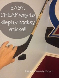 Have a special hockey stick to display? This is a must read to learn how to make the easiest hockey stick display