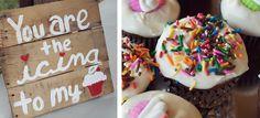 Rustic Farm Wedding - cupcakes - pallet wood sign - Bright   Ayers Wedding | Winston-Salem, NC Wedding Photographer