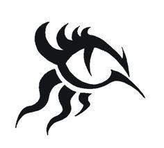 Tribal Lion Eye Tattoo
