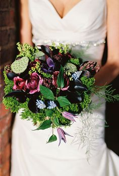 Browse Purple wedding flowers to find bouquets, centerpieces & boutonnieres.Get inspired ideas for everything from classic white wedding bouquets to unique floral wedding décor. Wedding Flower Photos, Winter Wedding Flowers, Flower Bouquet Wedding, Floral Wedding, Fall Wedding, Dream Wedding, Winter Weddings, Rustic Wedding, Wedding Flower Arrangements