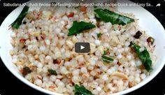 Sabudana Khichdi Recipe Video
